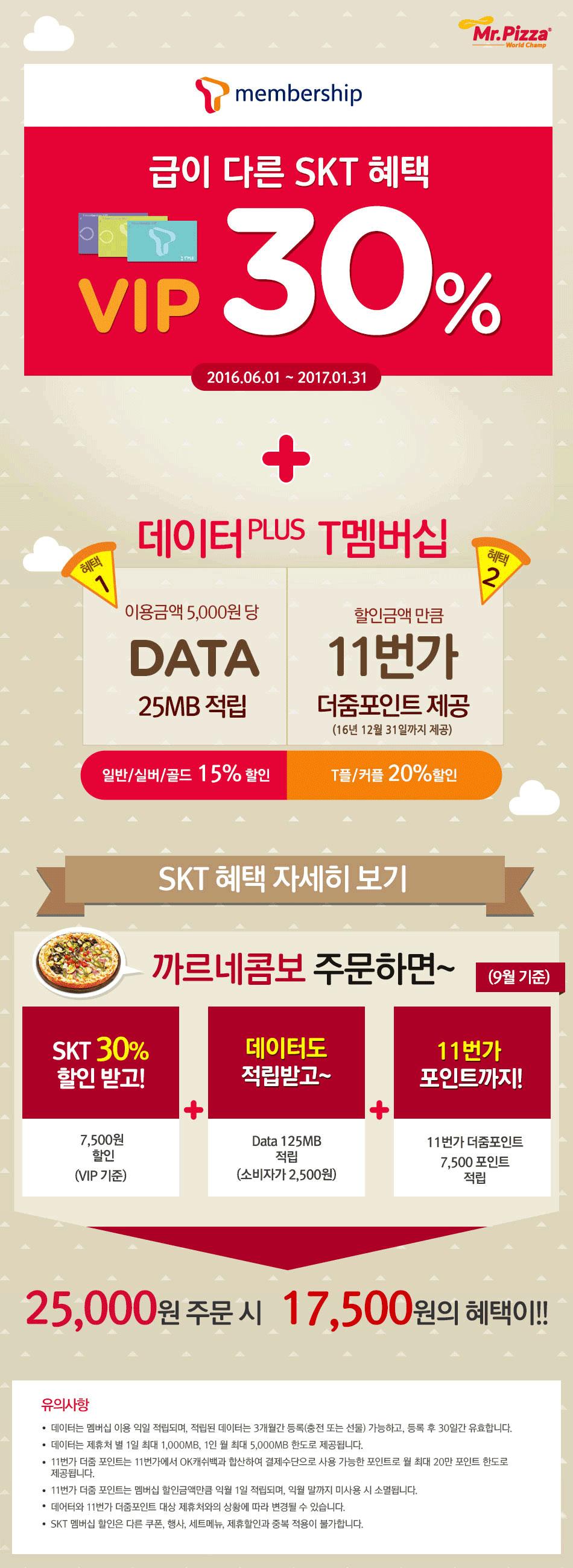 SKT VIP 30% 할인 + 데이터플러스 혜택까지!